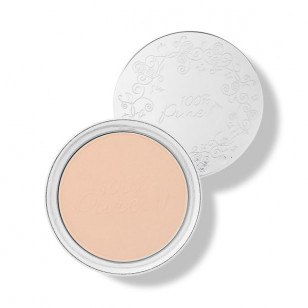 100% Pure 果妍萃取® 啞緻無瑕粉餅(Creme/White Peach)