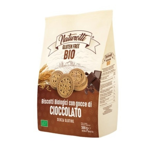 Naturotti Organic 意大利有機無麩質健康美味朱古力粒曲奇餅300G