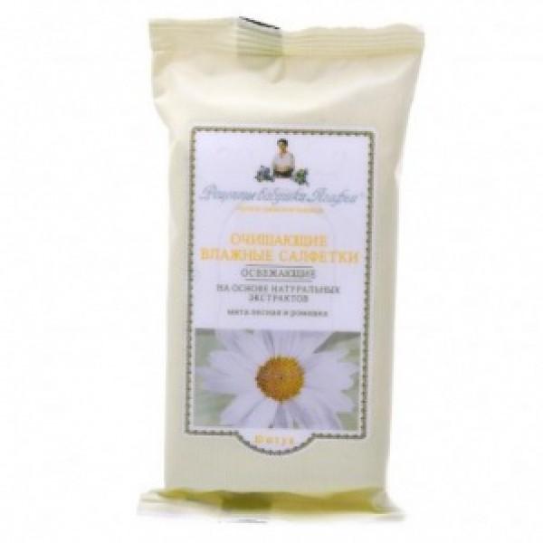 Agafia- 薄荷和洋甘菊濕紙巾 10片裝