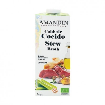 AMANDIN Organic Low Fat Gluten Free Stew Broth 有機低脂無糖無麩質黃薑燉肉湯 1000ml
