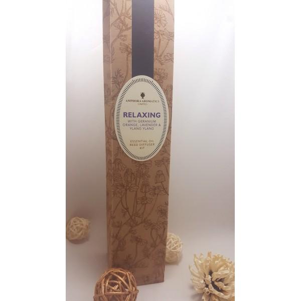 Amphora Aromatics Diffuser- reed diffuser kit - Relaxing 薰衣草,橙,依蘭和天竺葵天然蘆葦條香薰 100ML