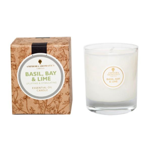 Amphora Aromatics 40小時天然植物蠟燭 Basil Bay Lime