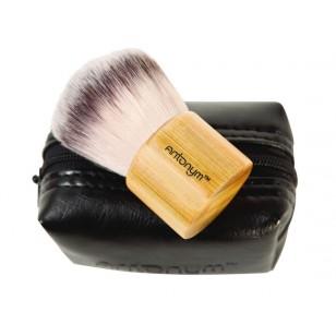 Antonym 纖維純素化妝掃 - 短柄平頭掃 (附拉鍊袋) Kabuki
