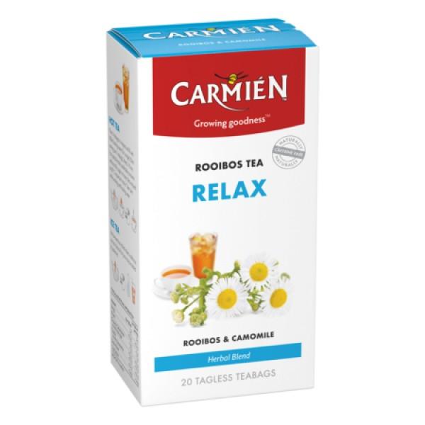 Carmien Relax Rooibos Tea 46g/20s 養生系列- 減壓放鬆 南非洋甘菊玫瑰果大紅花國寶 / 博士茶 - 20包茶包
