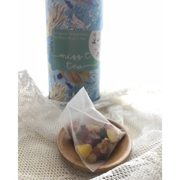 精美紙筒裝 - 午後水果茶 玫瑰綜合水果三角茶包(10包)