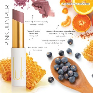 LUK Beautifood Nourish 天然有機潤澤唇膏 Pink Juniper
