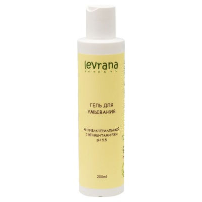 "Levrana (LVA) Gel for washing ""Antibacterial"" with enzymes of rye 200ml"
