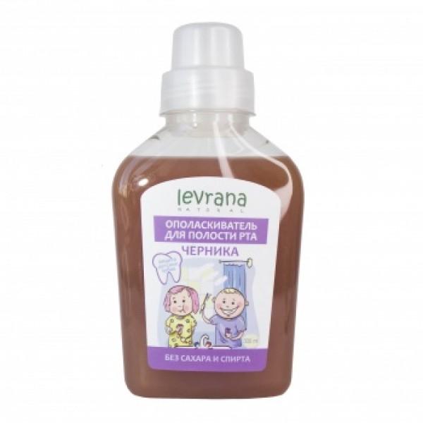 """Levrana (LVA) 天然兒童漱口水""""藍莓""""300ml"""