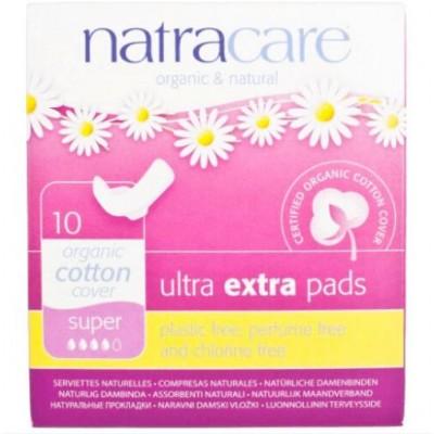Natracare 有機棉倍安護翼衛生巾 (26cm日用量多/夜用型,10片獨立包裝)