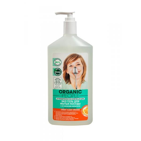 Organic People 有機人甜橙金盞花碗碟清潔Gel 500ml