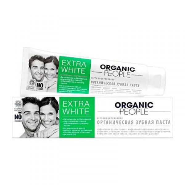 俄羅斯 Organic People Extra White 天然去漬抗菌牙膏 100ml