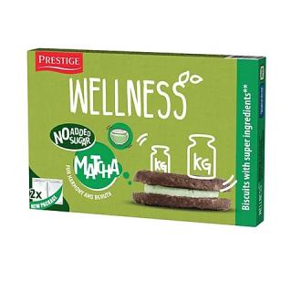 Prestige Wellness 低糖低鹽燕麥濃抺茶夾心餅 69g