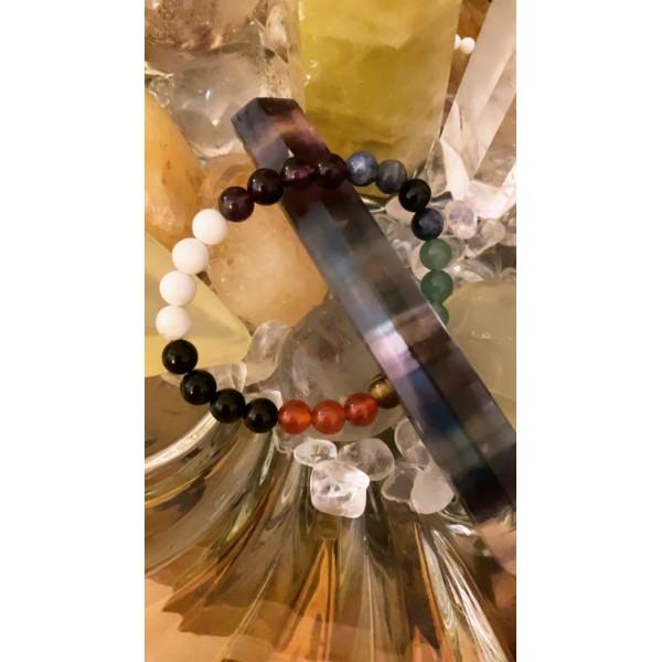 RL Organic Chakra Bracelet 7脈輪手鍊 6MM 石 (S / M)