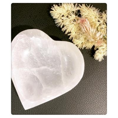 RL Organic Selenite 透石膏心形碗