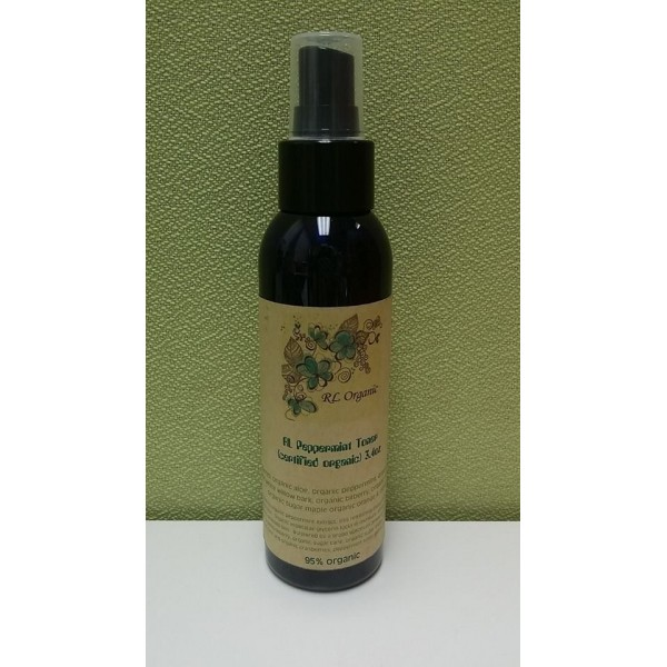 Certified Organic Peppermint Facial Toner 有機認証(95%)薄荷爽膚水