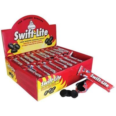 Swift-Lite 無煙碳餅10片裝 (煙燻香脂)