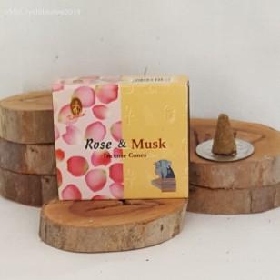 RL Organic Kamini Rose & Musk Incense Cones 玫瑰麝香塔香10粒
