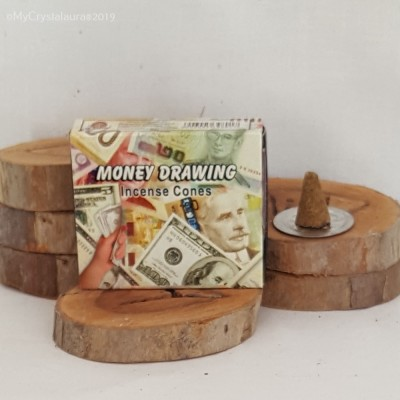 RL Organic Kamini Money Drawing Incense Cones 賺錢塔香 10pcs