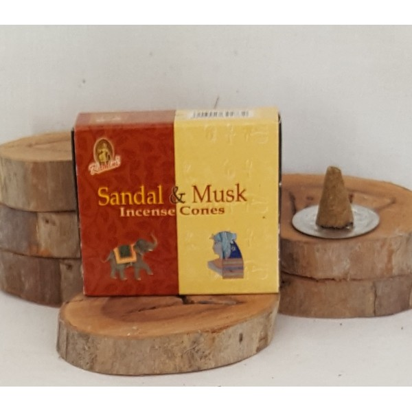 RL Organic Kamini Sandal & Musk Incense Cones 檀香麝香塔香10粒