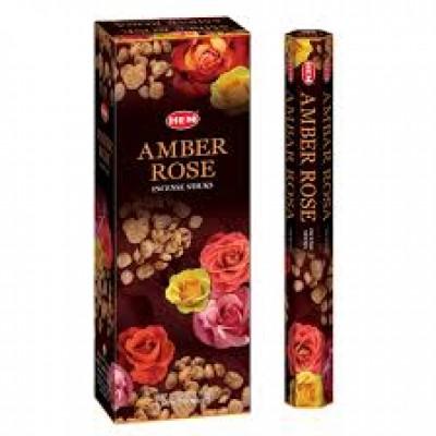 RL Organic Hem Amber Rose Incense Sticks 琥珀玫瑰香枝20pcs