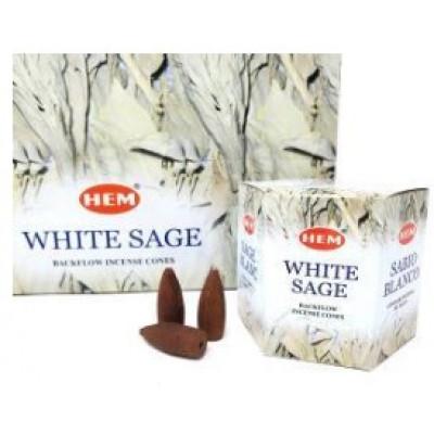 RL Organic Backflow White Sage Incense Cones 倒流白鼠尾草塔香40pcs