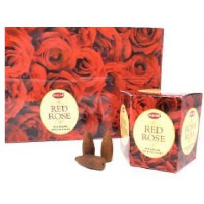RL Organic Backflow RED ROSE Incense Cones 倒流紅玫瑰塔香40pcs