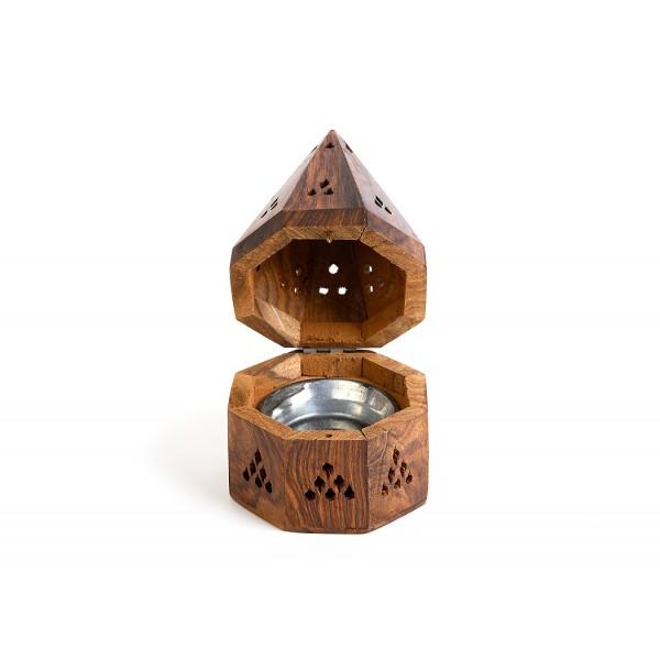 """RL Organic 木造錐形香爐(塔香/樹脂) 5""""L"""