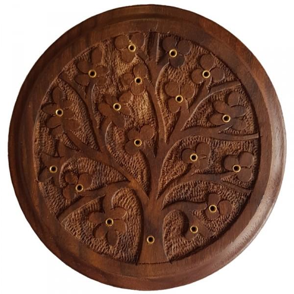 Wooden Ashcatcher 生命之樹木製香枝碟(線香台/香枝插)
