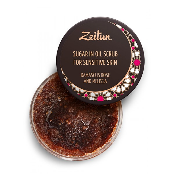 """Zeitun Sugar in Oil 身體磨砂""""Rose & Melissa"""" 250ml"""