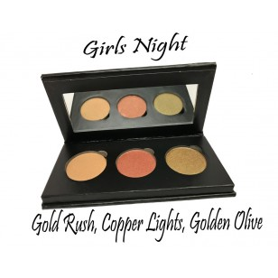天然有機3色眼影組 Girls Night (Gold Rush, Copper Lights, Golden Olive)