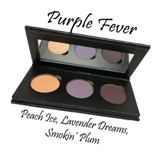 天然有機3色眼影組 Purple Fever (Peach Ice, Lavender Dreams, Smokin Plum)